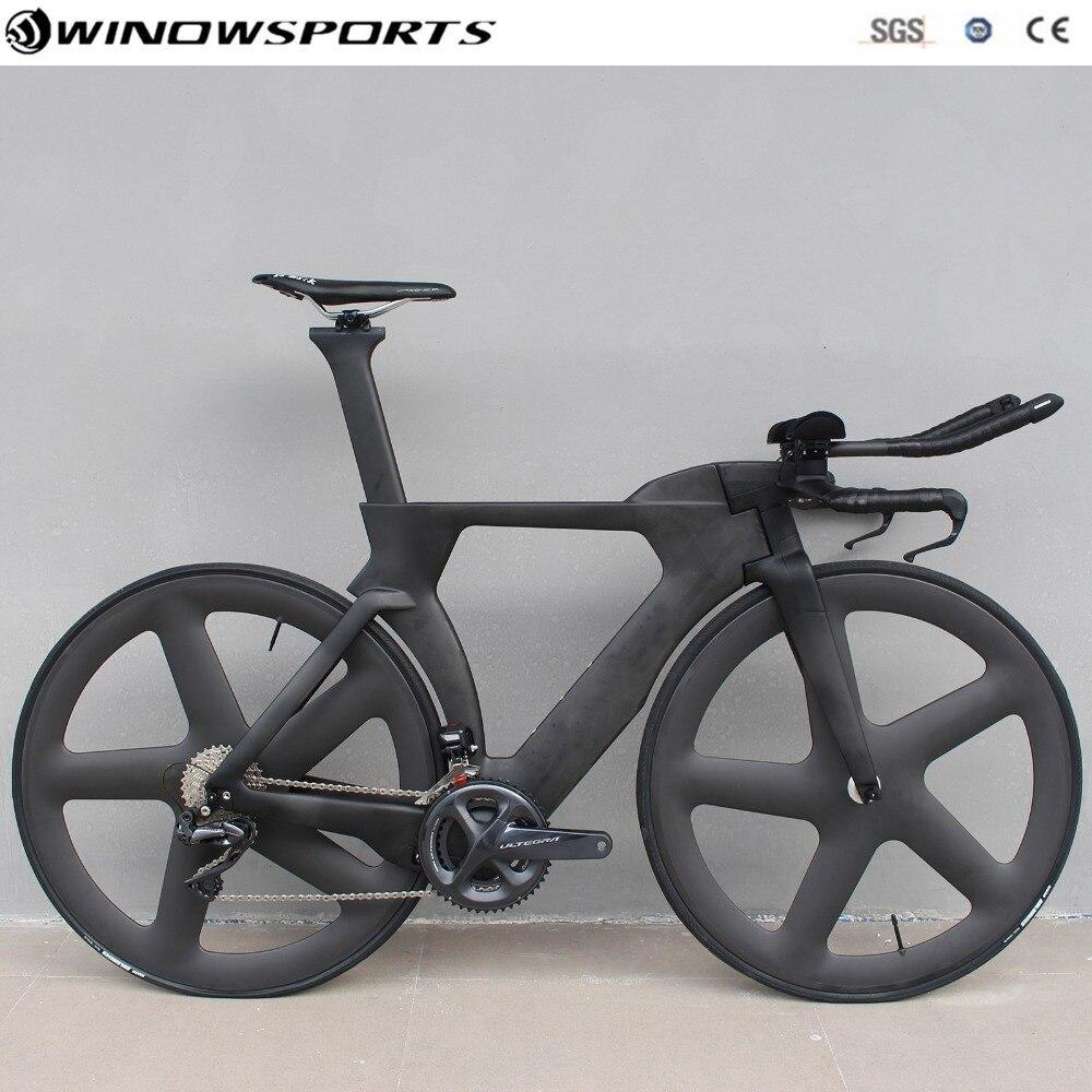 Chinois TT vélo aero carbone contre-la-montre vélo triathlon TT vélo avec DI2 22 vitesses carbone tt vélo cadre 48/51/54/57 cm