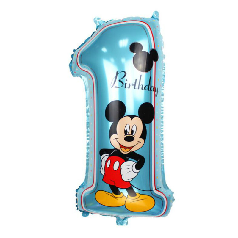 16pcs Lot Mickey Minnie Mouse Foil Helium Balloons 1st Happy