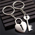 Metal heart shape Key lock Creative Couple Keychain Gift Lovers keychain Keychain Ornamentation