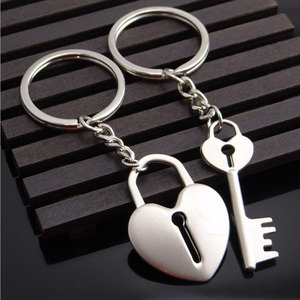 Metal heart shape Key lock Cre
