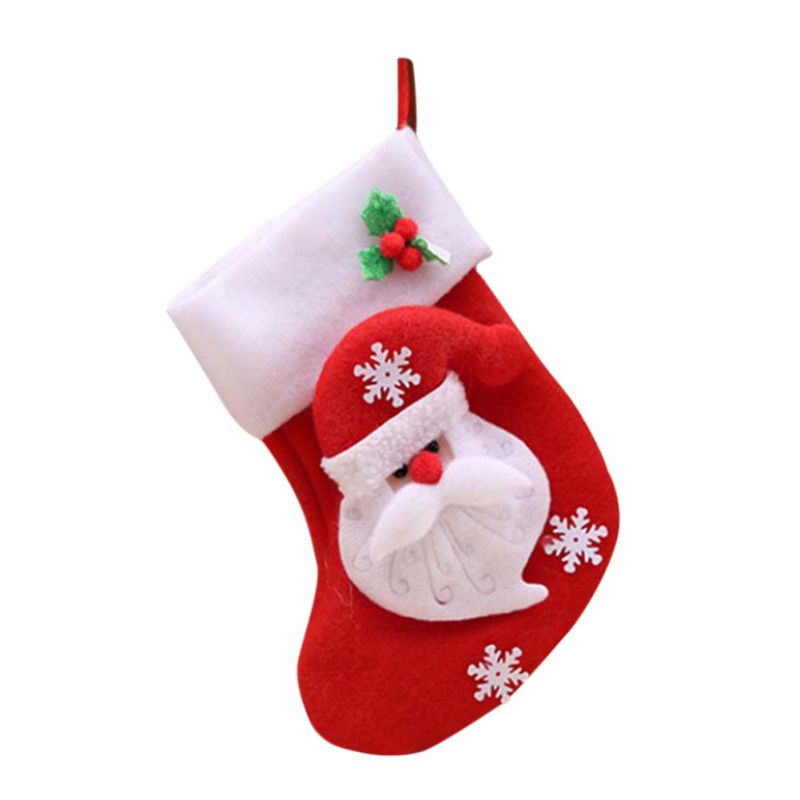 Christmas Stockings Santa Claus Snowman Holiday Little Christmas Gift B