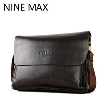 Polo High Quality Cowhide Split Leather Men Shoulder Bags Messenger Bag Fashion Luxury Clutch Pocket Business