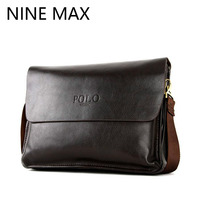 Polo High Quality Cowhide Split Leather Men Shoulder Bags Messenger Bag Fashion Luxury Clutch Pocket Business