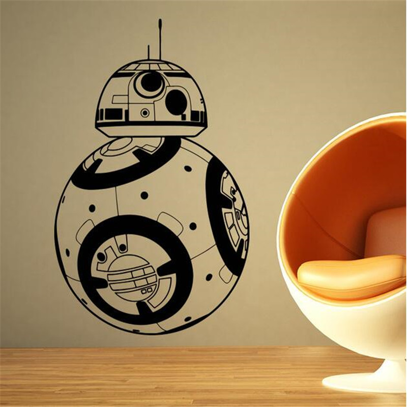 IDFIAF Star Wars Wall Stickers Home decor Movie robot DIY 3D Vinyl ...
