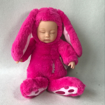 Mishatoys Baby Sleeping Rabbit 25 cm Plush Doll gift new year Birthday for girls and boys lol dolls shipping from russia 1