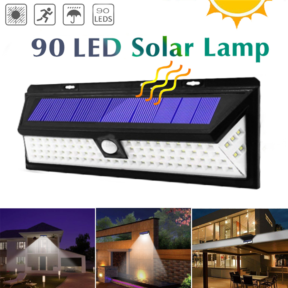90 LEDs Solar Lamp Outdoor Waterproof Solar Light Led PIR Motion Sensor Garden Lighting Outdoor Street Balcony Security Lights
