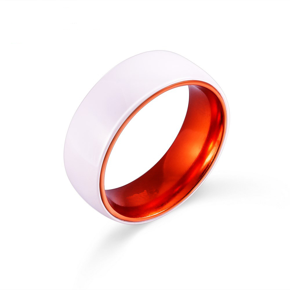 shardon wedding engagement jewelry white domed ceramic wedding band lovers ring engagement rings red aluminium inlay in rings from jewelry accessories - Ceramic Wedding Rings