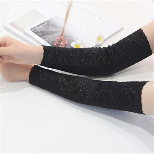 placeholder Mulheres verão Rendas Floral Tattoo Arm Warmers Braço Mangas  Protetor Solar Cicatriz Covers Ladies Luvas Anti 5c6507e46b222