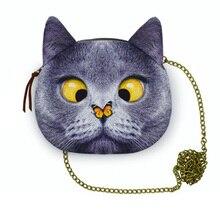2016 New arrival high quality funny cats women bags handbags Plane 3D dog sweet ladies shoulder bags women messenger chain bag