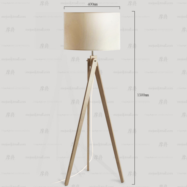 continental wooden tripod floor lamp ikea bedroom gift ideas muji plain linen floor lampin floor lamps from lights u0026 lighting on