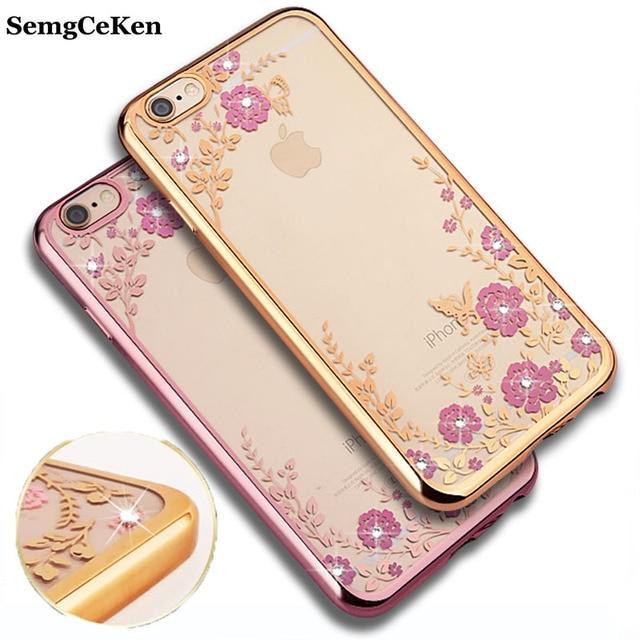 Semgceken Luxury Original Rose Gold Silicone Phone Case For Apple