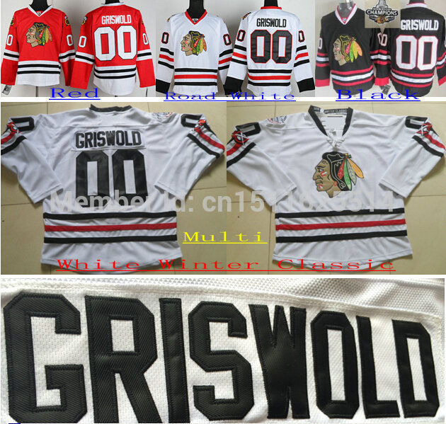 Sale Cheap! Cheap 2015 Men s Chicago Blackhawks Hockey Jerseys  00 Clark  Griswold Jersey CCM White Black Red Vintage Stitched Ho-in Hockey Jerseys  from ... 30291fc4618