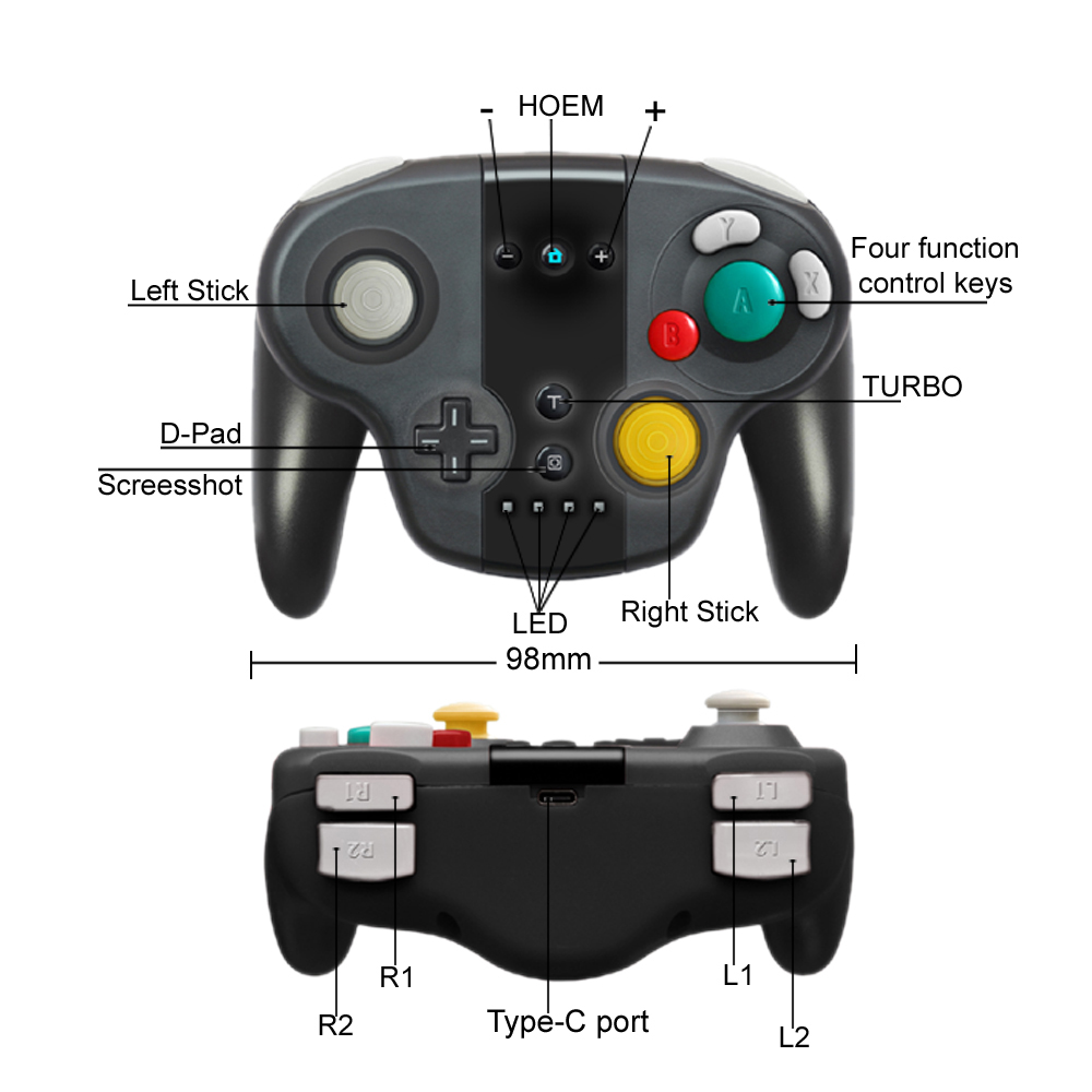 Wireless Pro Game Controller for Nintendo Switch NS Wireless Controller Gamepad Joystick for Nintend Switch Console Win 7 8 10 in Gamepads from Consumer Electronics