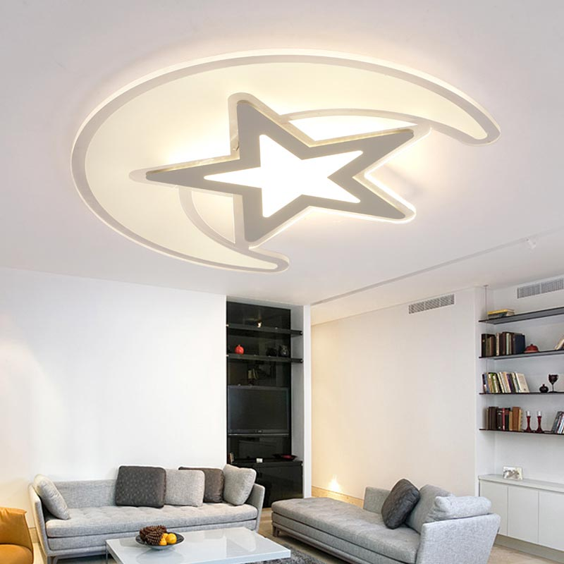 Modern Acrylic Ceiling Lights 30W Children LED Lamp Bedroom Living Room Kitchen Decor Indoor Home Lighting White Iron AC110-220V new modern led ceiling lights for living room bedroom plafon home lighting combination white and black home deco ceiling lamp