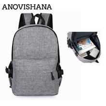 ANOVISHANA Anti-theft Backpack Intelligent USB Charging Shou