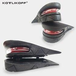 KOTLIKOFF نعل لزيادة الطول قابل للتعديل 2-Layer 4.5 سنتيمتر وسادة هوائية منصات غير مرئية باطن النعال إدراج للأحذية الرجال/النساء