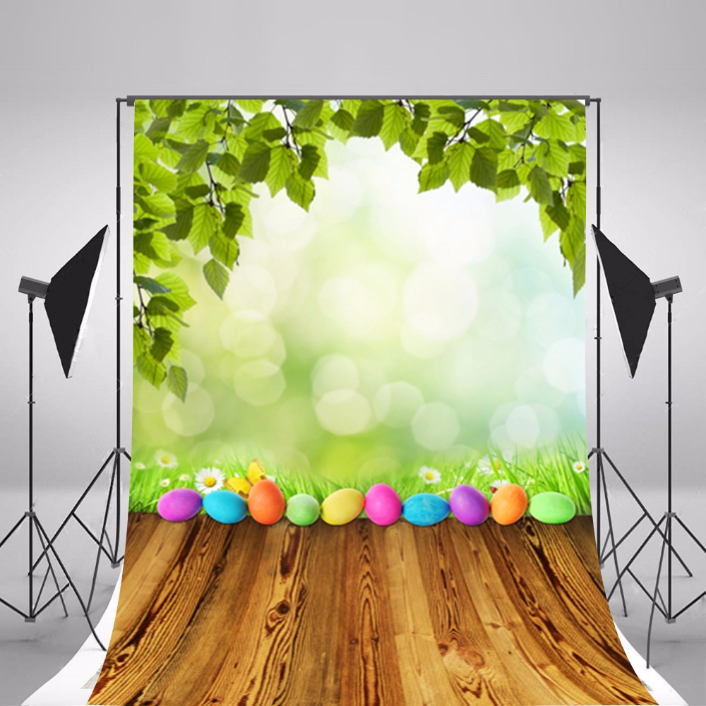 Hot Easter Eggs Photographic Backgrounds Vinyl Photo Backdrops Backgrounds For Photo Studio Wooden Photography Props Easter family photo background easter day flowers vases photography backdrops for photo studio vinyl printing photographic backgrounds