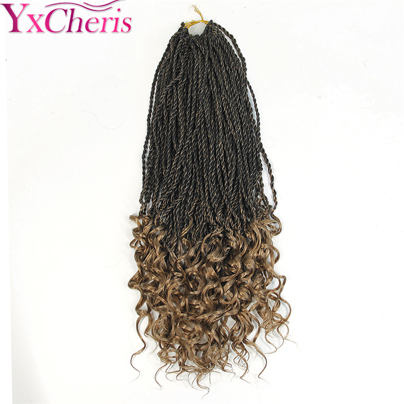 18 pulgadas rizado recta Senegale Twist Crochet trenzar pelo ...