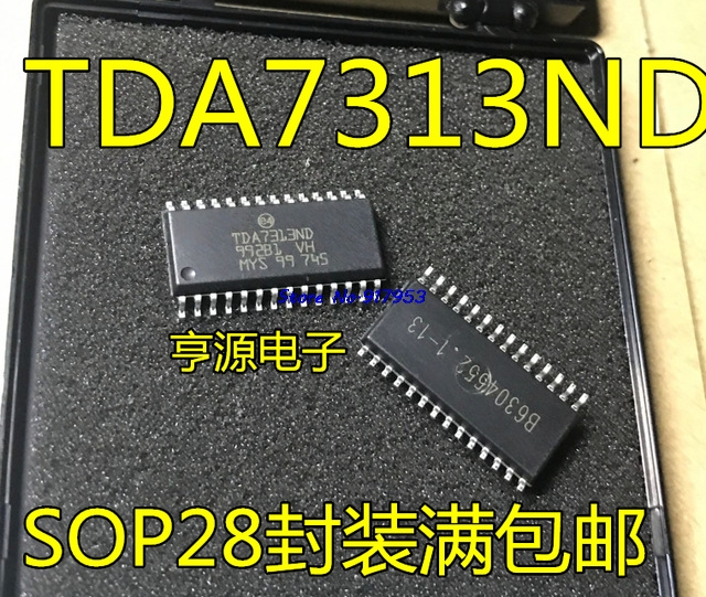 5pcs/lot 100% New And Original TDA7313 TDA7313D TDA7313ND SOP-28  In Stock