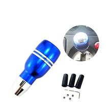 Blue Aluminum Automatic Manual Car Auto Gear Stick Shift Shifter Lever Knob Universal недорого