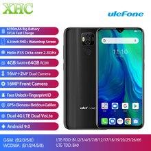 הגלובלי Ulefone כוח 6 אנדרואיד 9.0 נייד טלפון 6.3 4 GB 64GB Helio P35 אוקטה Core Dual SIM 16MP מצלמת 6350mAh סוללה Smartphone