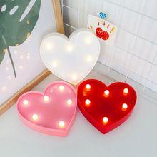 3D Love Heart Wedding Party Decoration Interior Lights LED Lamps Romantic Night Lightlamp