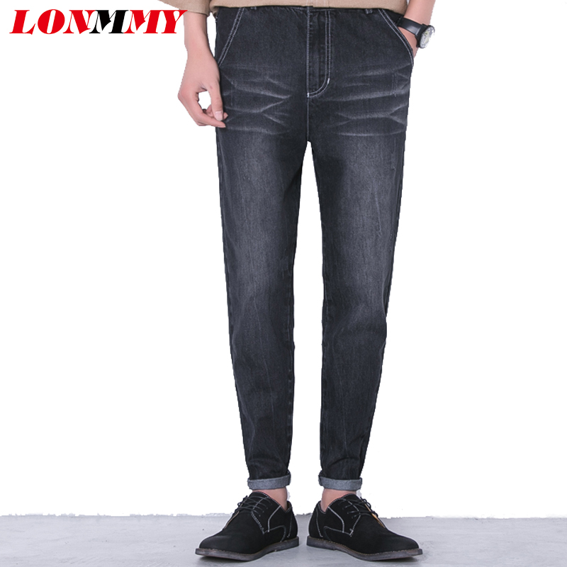 LONMMY M-5XL Cheap jeans mens Harem pants skinny jeans men Slim fit Casual denim overalls men Ankle-Length Fashion 2017 New