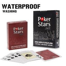 2 упак./лот пластиковые игральные карты, Техасские покерные карты Holdem, водонепроницаемые и тусклые полированные покерные звезды, настольные...
