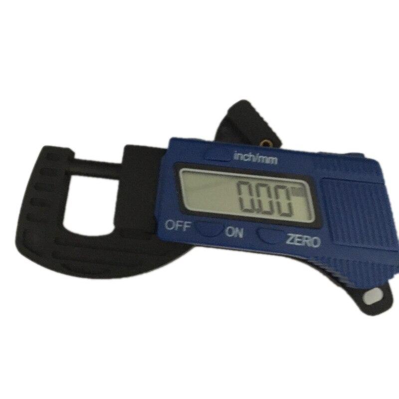 0 12.7mm Mini Digital Thickness Gauge 0.01mm Carbon Fiber