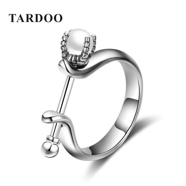 Tardoo Pear Shaped Engagement Rings 925 Sterling Silver Rings for Women Trendy Real White Pearls Ring Romantic Fine Jewelry