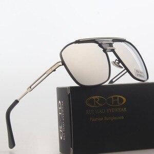 Image 3 - Óculos de sol polarizados homens duplo feixe retro design condução óculos de sol homem piloto óculos de sol anti uv lentes de sol hombre pe200