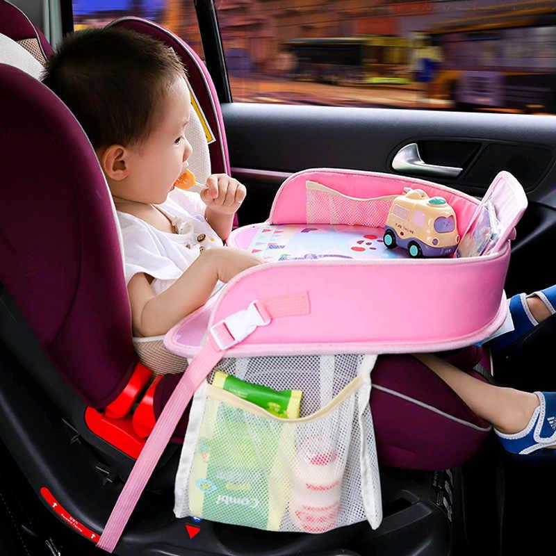 Multifunctional Baby Car Safety Seat ถาดเก็บของเล่นเด็กอาหารกันน้ำเครื่องดื่มตารางแบบพกพาเก้าอี้รถเข็นเด็กผู้ถือ Playp