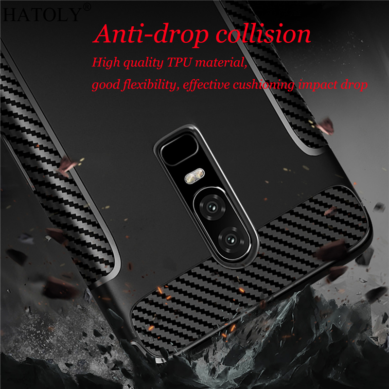 Oneplus 6 Case Cover For OnePlus 6 Rubber Silicone Armor Phone Shell Bumper Protector Shockproof Soft Back Case For Oneplus 6