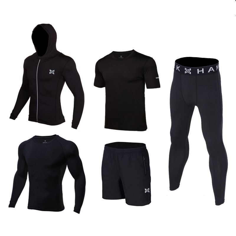 Kids Men Sports Running Set Jackets Basketball Soccer Football Tennis Fitness GYM Tights Shorts Shirts Pants Leggings Reflective 3 piece set men s sports running stretch tights leggings t shirts shorts training pants jogging fitness gym compression suits