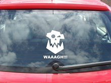 For Orc icon WAAAGH!!! Warhammer 40k Vinyl Car / Wall decal sticker any colour Car Styling(China)