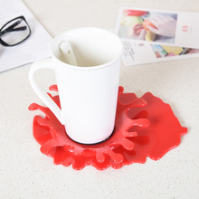 Mustard Blood Shaped Spoon Rest Mustard Style Kitchen Cooking Cup Mat Tablewarepad Kitchenware Holder Utensil цена