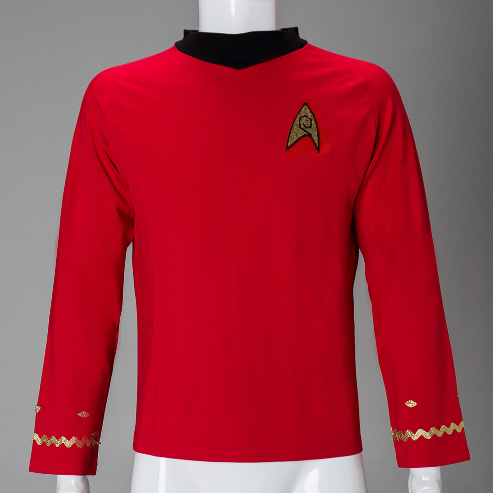 Cosplay Star The Original Series TOS Trek Cosplay Scotty Red Shirt Uniform Costume Halloween New image