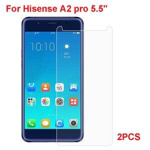 Для Hisense A2 Pro закаленное стекло 9H 2.5D Премиум Защитная пленка для переднего экрана для Hisense A2pro 5,5 дюймов 2 шт