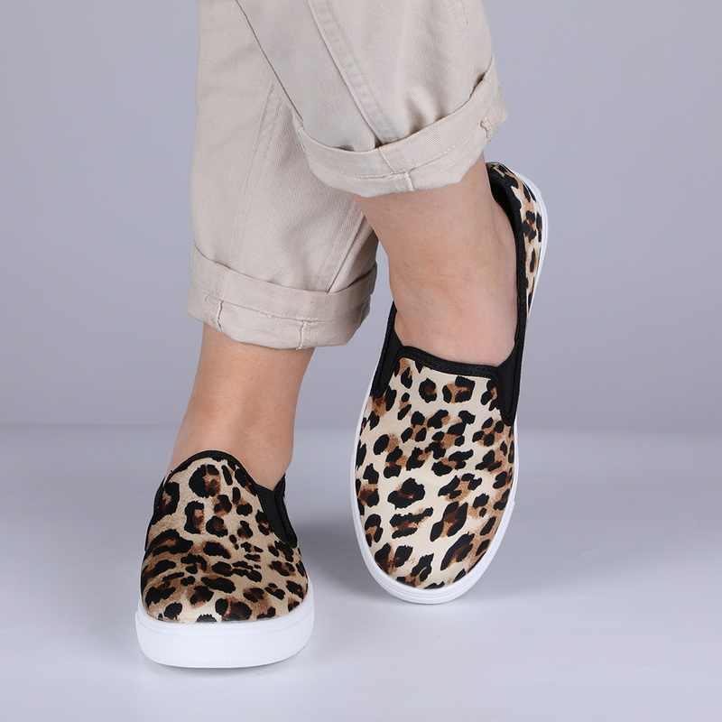 MoneRffi Mode Vrouwen Casual Flats Schoenen Torridity Platte Schoenen Loafers Flats Luipaard print Sneakers Slip Op 2019 Mujer Lente