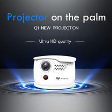 WOWOTO Mini Projector 854*480 Resolution Android Wi-Fi Bluetooth LED Portable HD projector Home Cinema Manual focus Optional Q1