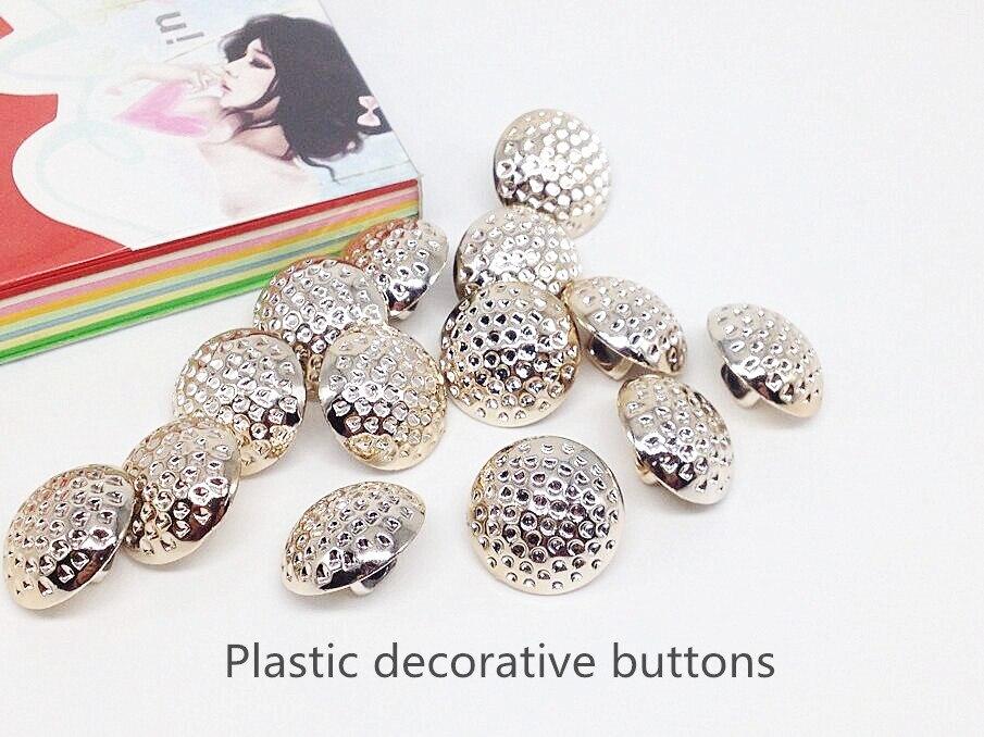 12PCS SEWING accessories HALF circular PLASTIC buttons woolen suit coat jacket unisex buttonS