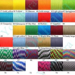 Image 4 - Dhl送料50ピース/ロット252色paracord 100フィート550パラシュートコードストラップロープタイプiii 7 strandsロープ屋外キャンプ