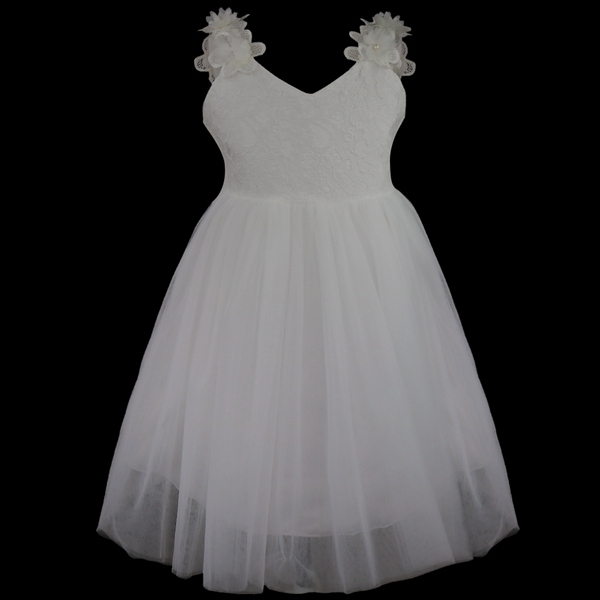 Princess White Tulle Lace...
