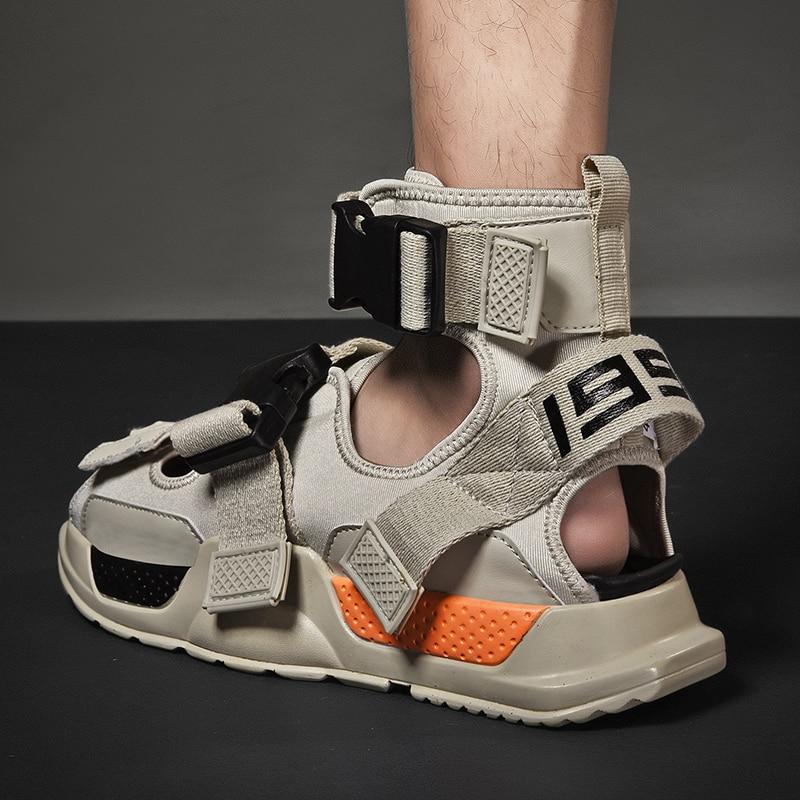 Open Toe 2019 Summer Mens High Top Shoes Gladiator Sandals Designers Platform Comfortable Beach Sandals Male Canvas Men Sandalss
