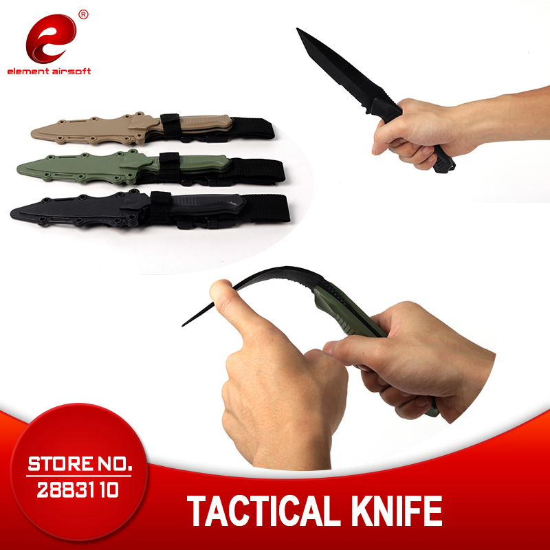 ALI shop ...  ... 32832209772 ... 1 ... Element Airsoft Tactical Accessories Enthusiasts M9 CS Cosplay Prop Combat Bayonet Rubber Train Sheath Knife Model Sword CY338 ...