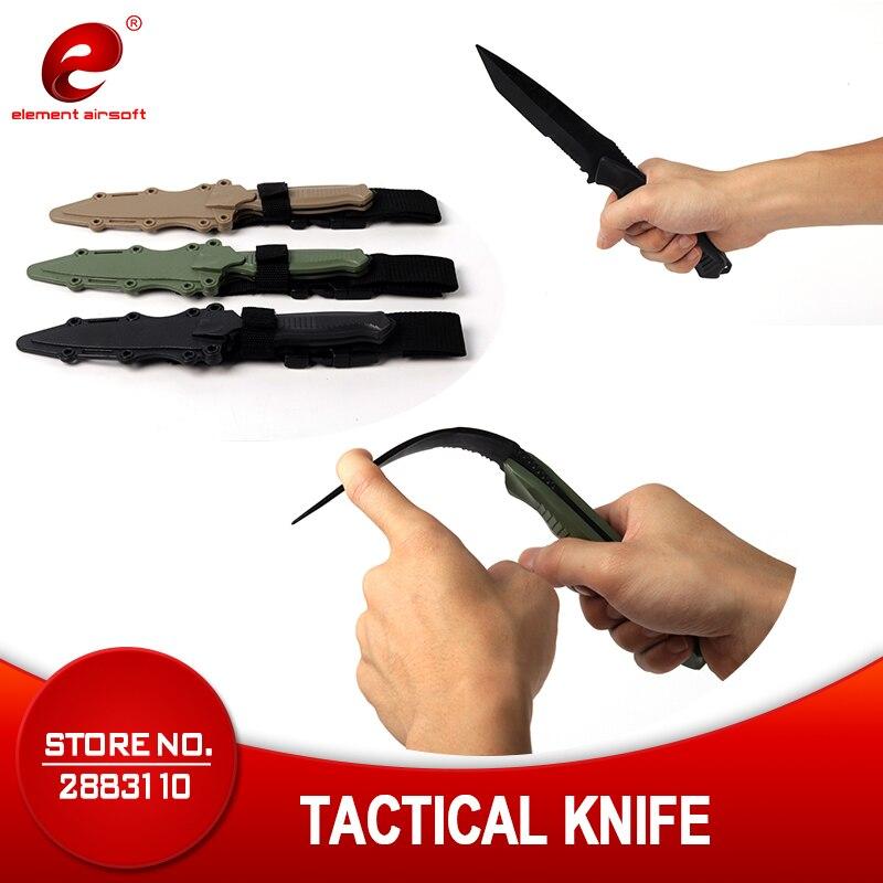Element Tactical Accessories Trauma Weapon M9 CS Cosplay Prop Combat Bayonet Rubber Train Sheath Softair Knife Model Sword CY338