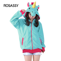 ROSASSY Unicorn Hoodie Novelty Kigurumi Anime Cartoon Hoodies Unicorn Sweatshirts Tracksuits Hooded Adult Animal Cosplay Costume