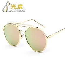 GUANGDU 2017 Mujeres gafas de Sol de Diseñador de la Marca Del ojo de Gato Gafas de Sol Femeninas de Conducción Ronda Diseñador de la Marca gafas de sol mujer 058