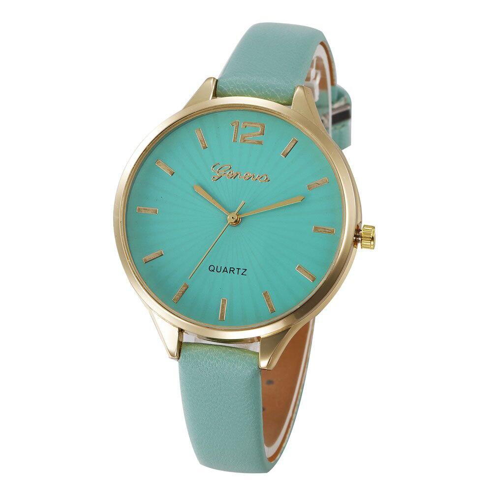 Women Watches Luxury Casual No package Analog Faux Leather Quartz Analog Wrist Watch Hook Buckle Relogio Feminino De Luxo YLL