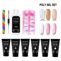 30ml 6 Bottles/set of Nail Art Extend Gel Set Practical UV Light Therapy Nail Gel Nail Extension Value Discount Gel Kit Tools